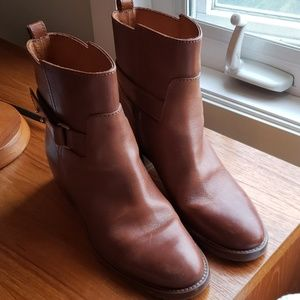 J.Crew brown leather ankle boots